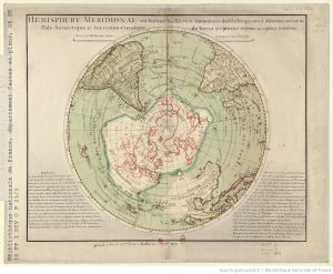Map of the southern hemisphere by Ph. Buache, 1770.